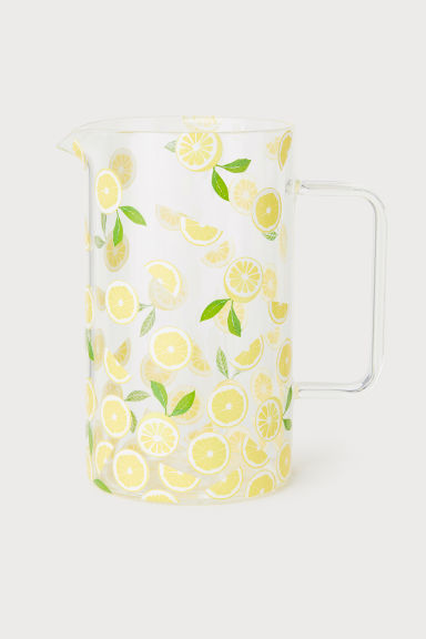 Carafe imprimée - Verre transparent/citrons - Home All | H&M FR