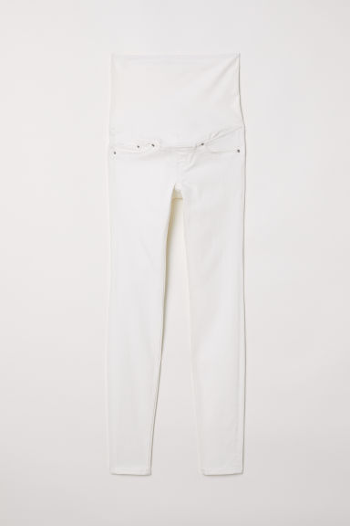 MAMA Super Skinny Jeans - Bianco naturale - DONNA | H&M IT