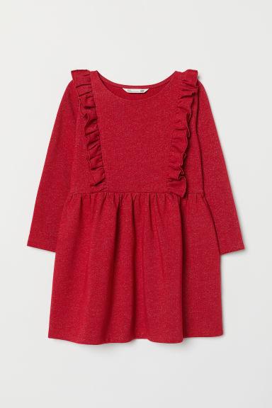 Jersey Dress Red Glitter Kids H Amp M Gb