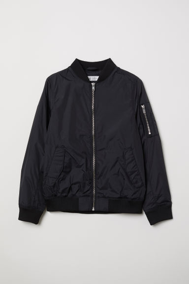 Nylon bomber jacket - Black - Kids | H&M