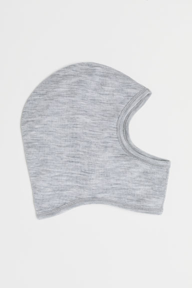 Wool balaclava - Light grey marl - Kids | H&M
