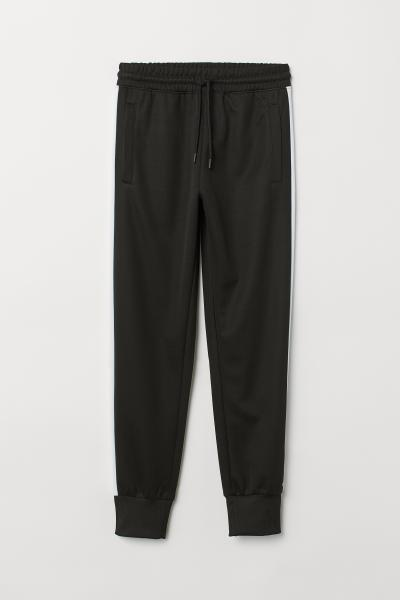 8cf36f151 Sports Pants with Side Stripes - Black/white - | H&M ...