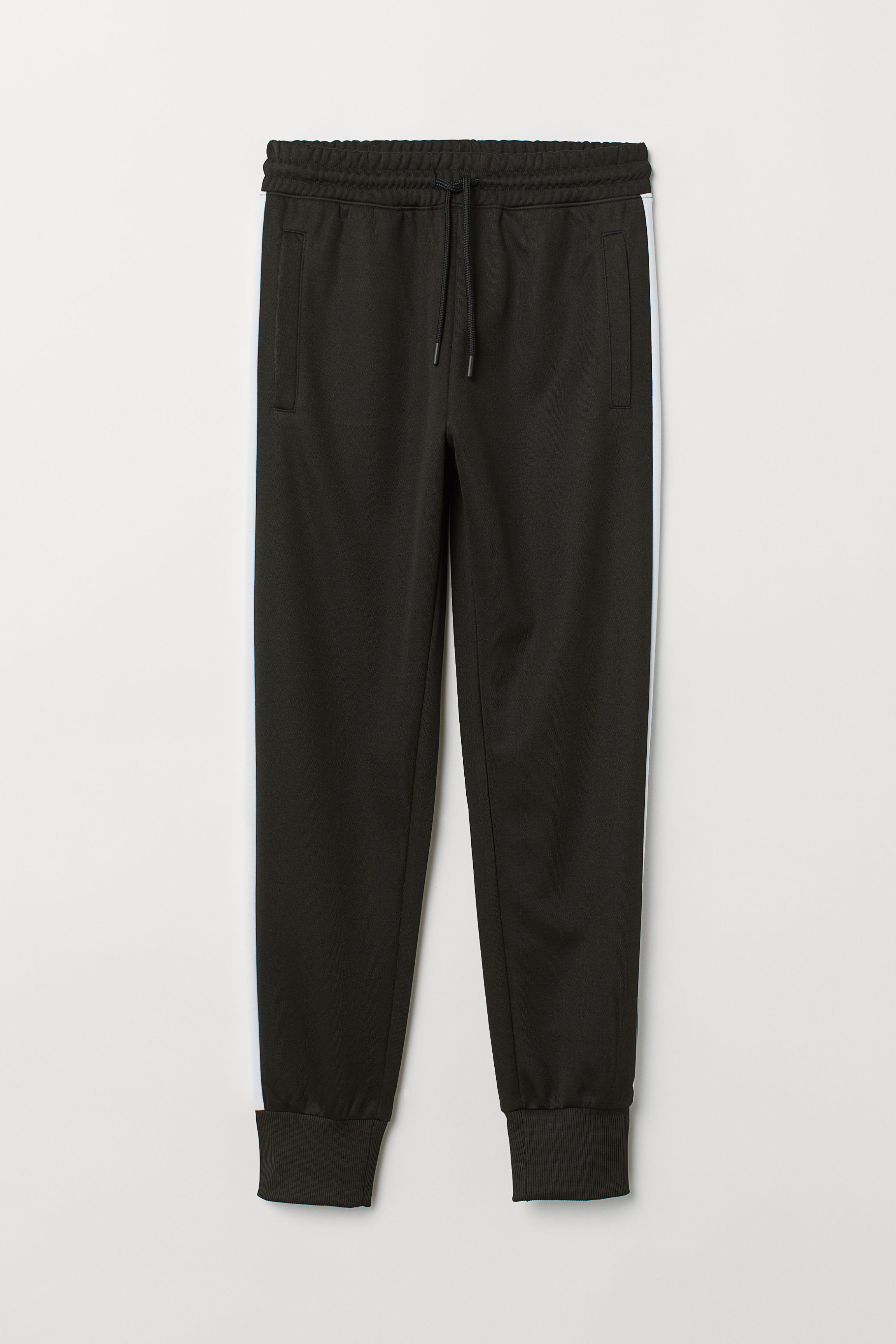 743ab3978 Sports Pants with Side Stripes - Black/white - | H&M US