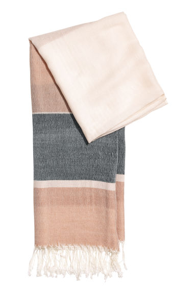 Block-patterned scarf - Dark grey/Mole -  | H&M IE