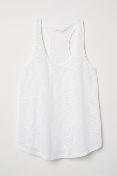 Tricot tanktop - Wit -  | H&M BE