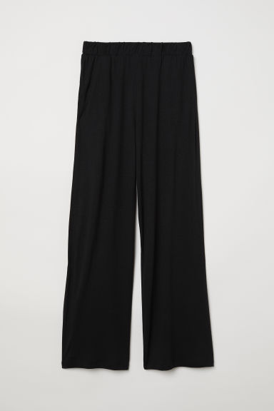 Pantaloni ampi in jersey - Nero - DONNA | H&M IT
