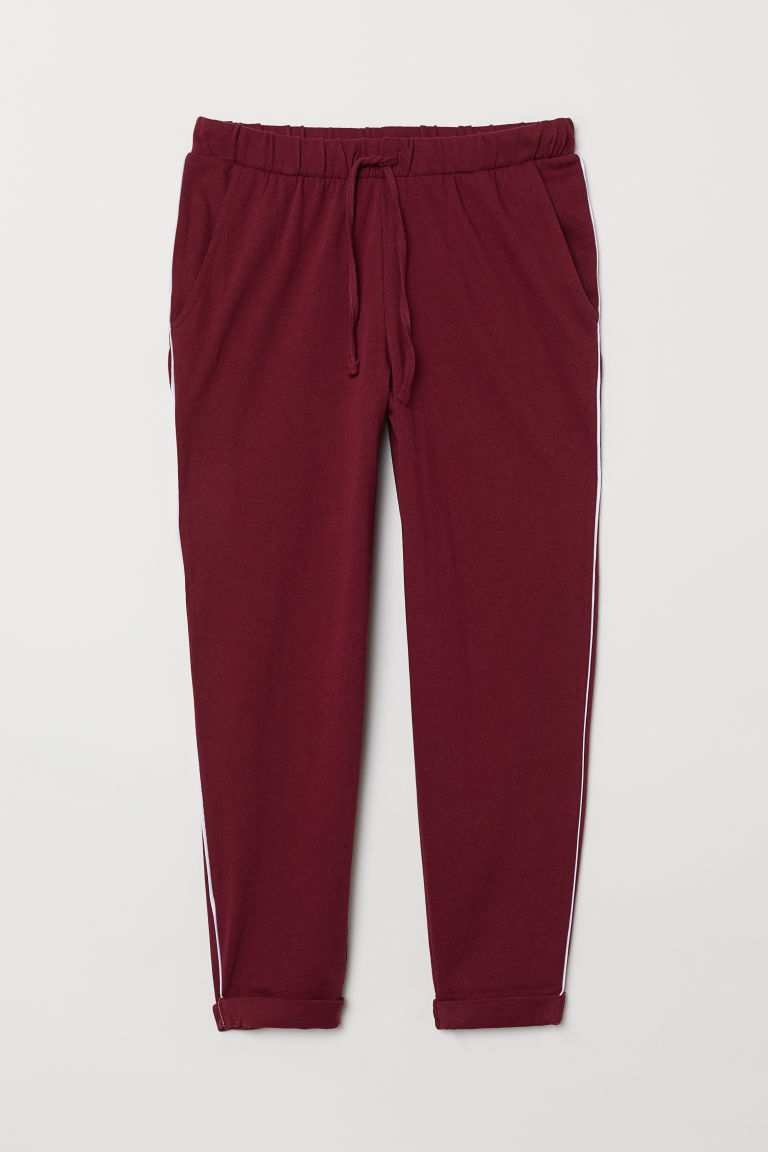 Joggers - Burgundy - Ladies | H&M CN