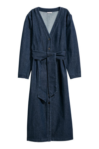 Denim dress - Dark denim blue -  | H&M GB