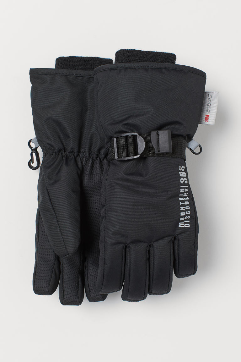 Water-repellent ski gloves - Black - Kids | H&M