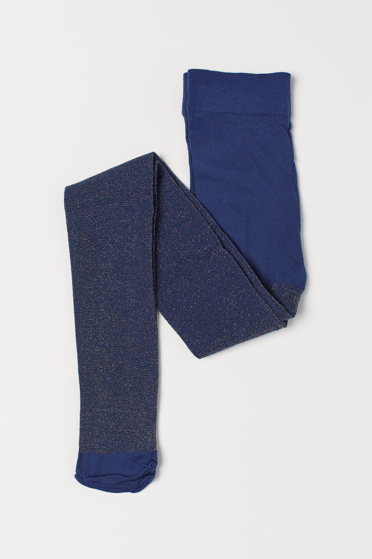 Glittery tights - Dark blue - Kids | H&M CN