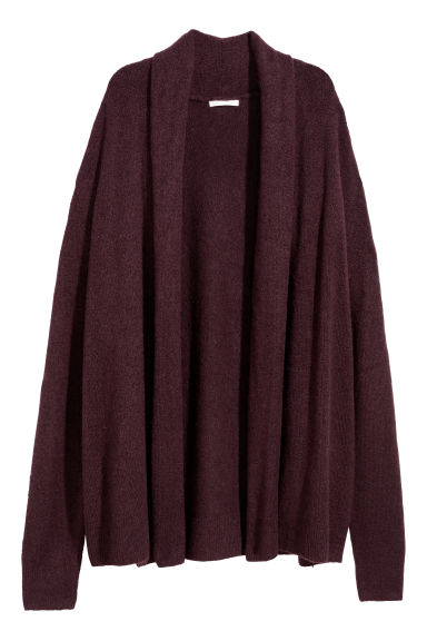 Shawl-collar cardigan - Plum -  | H&M