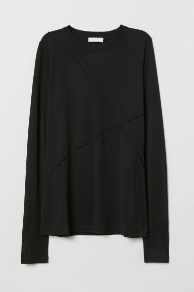 Silk-blend Top - Black - Ladies | H&M US