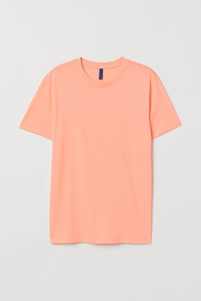 Cotton T-shirt Regular Fit - Apricot - Men | H&M GB