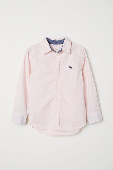 Cotton shirt - Light pink - Kids | H&M