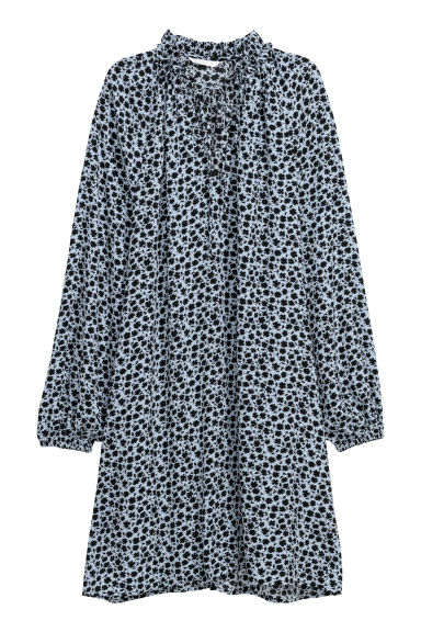 Patterned dress - Bleu clair/motif - FEMME | H&M FR