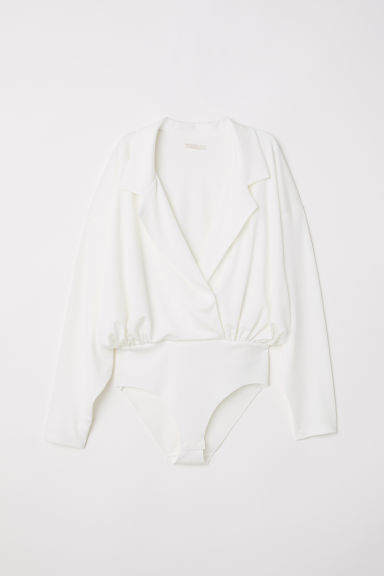 Long-sleeved body - White - Ladies | H&M CN