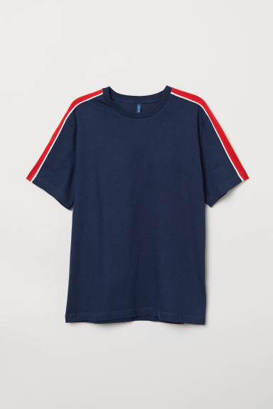 T-shirt - Dark blue/Red - Men | H&M