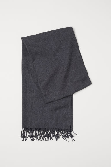 Fringed scarf - Dark grey marl - Men | H&M