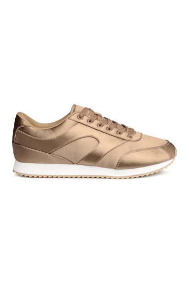 Satin trainers - Beige - Ladies | H&M GB