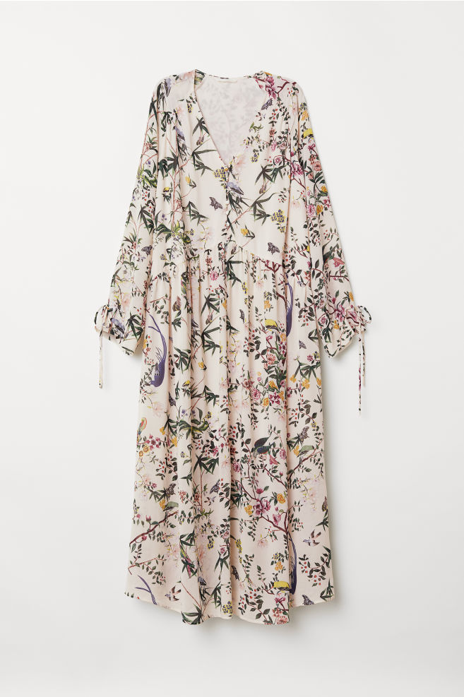 Robe à motif - Blanc/fleuri - FEMME | H&M FR 1