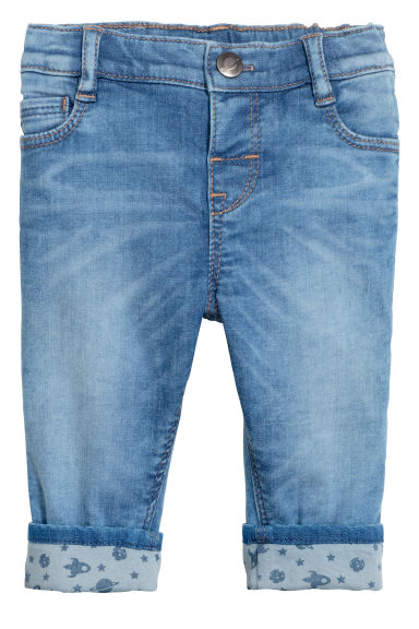 Slim fit Lined Jeans - Bleu denim -  | H&M BE