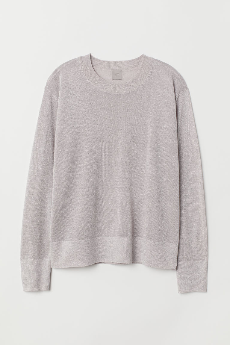 Glittery jumper - Powder pink - Ladies | H&M CN