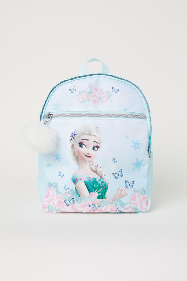 Backpack with a pompom - Light turquoise/Frozen - Kids | H&M