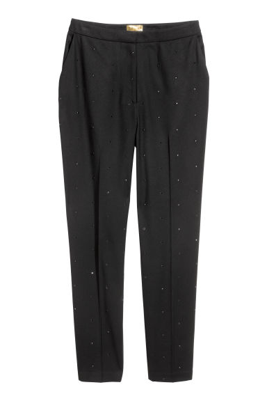 Suit trousers with studs - Black/Studs - Ladies | H&M