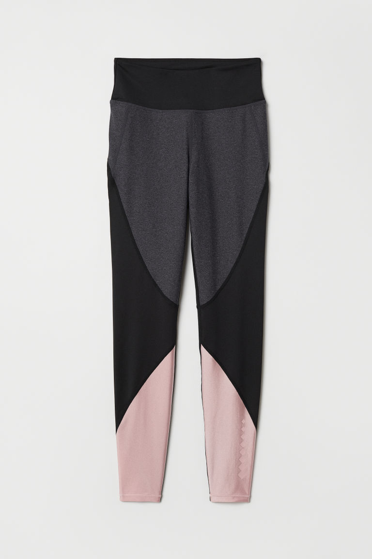 Sports tights - Black/Block-coloured - Ladies | H&M