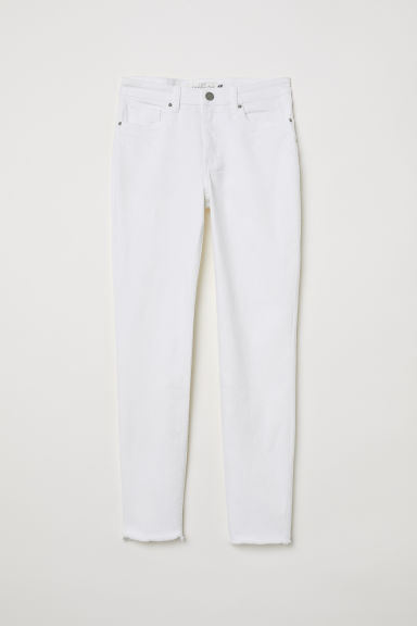 Slim Ankle Jeans - Wit -  | H&M BE