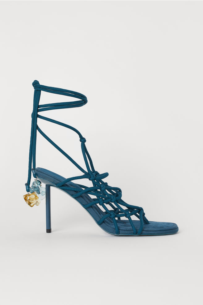 a03c00df74d Sandals with Lacing - Dark turquoise - Ladies