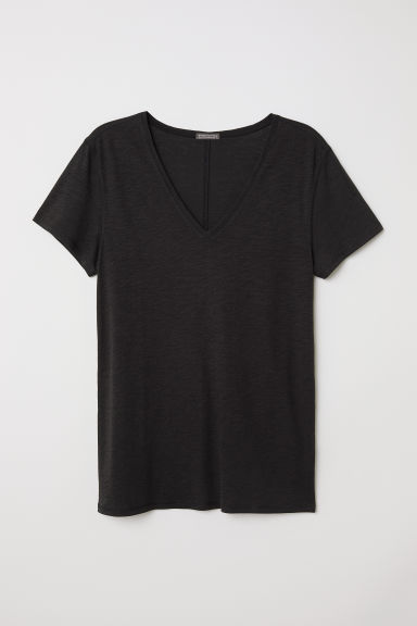 V-neck T-shirt - Black - Men | H&M CN