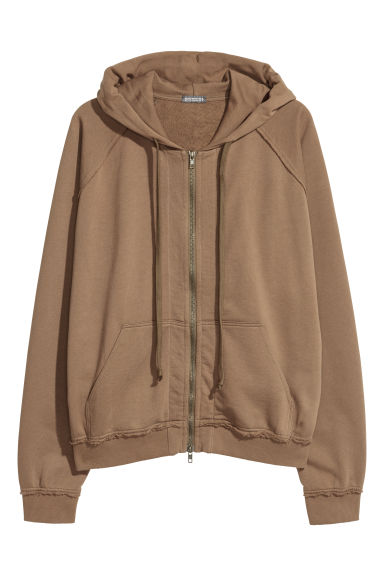 Hooded raglan-sleeved jacket - Dark beige - Men | H&M