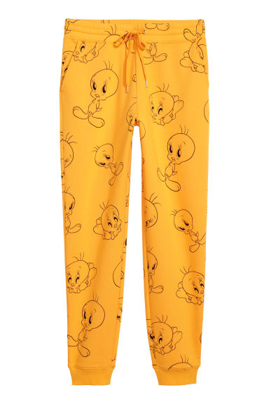Patterned sweatpants - Yellow/Looney Tunes -  | H&M
