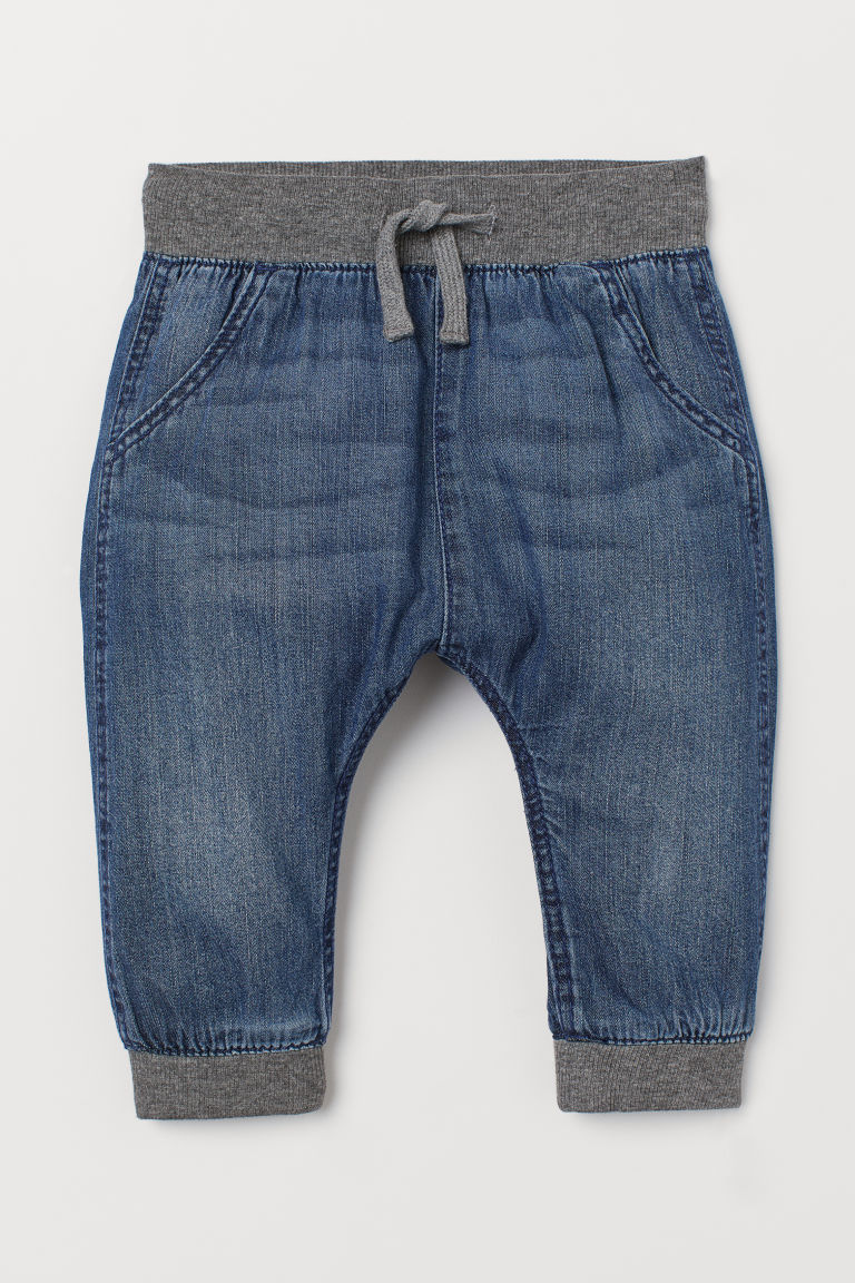 Denim pull-on trousers - Denim blue - Kids | H&M