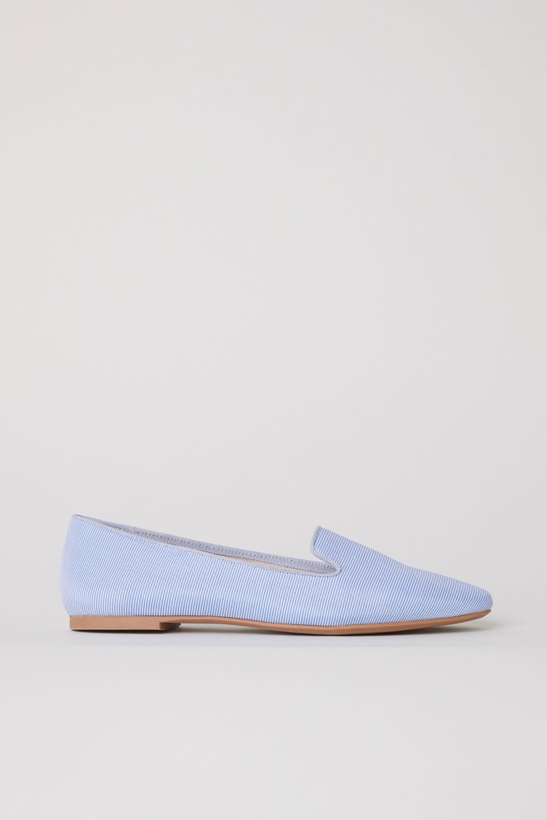 Loafers - White/Blue striped - Ladies | H&M CN