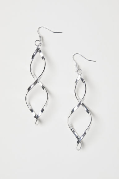 Spiral twist earrings - Silver-coloured - Ladies | H&M CN