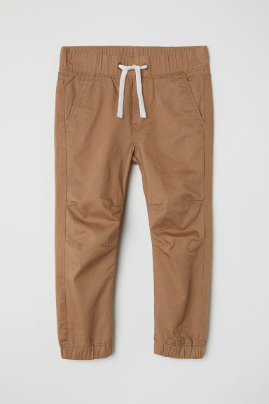 Cotton pull-on trousers - Dark beige -  | H&M