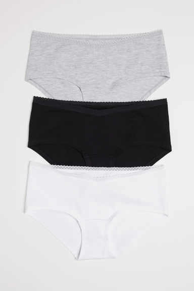 MAMA 3-pack hipster briefs - White/Black - Ladies | H&M