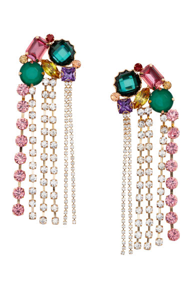 Long earrings - Gold-coloured/Multicoloured -  | H&M