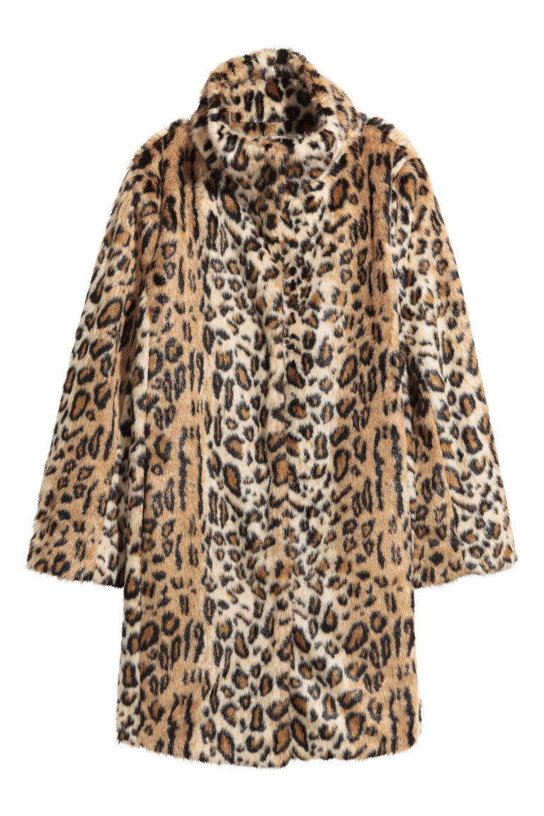 Faux fur coat - Leopard print - Ladies | H&M GB