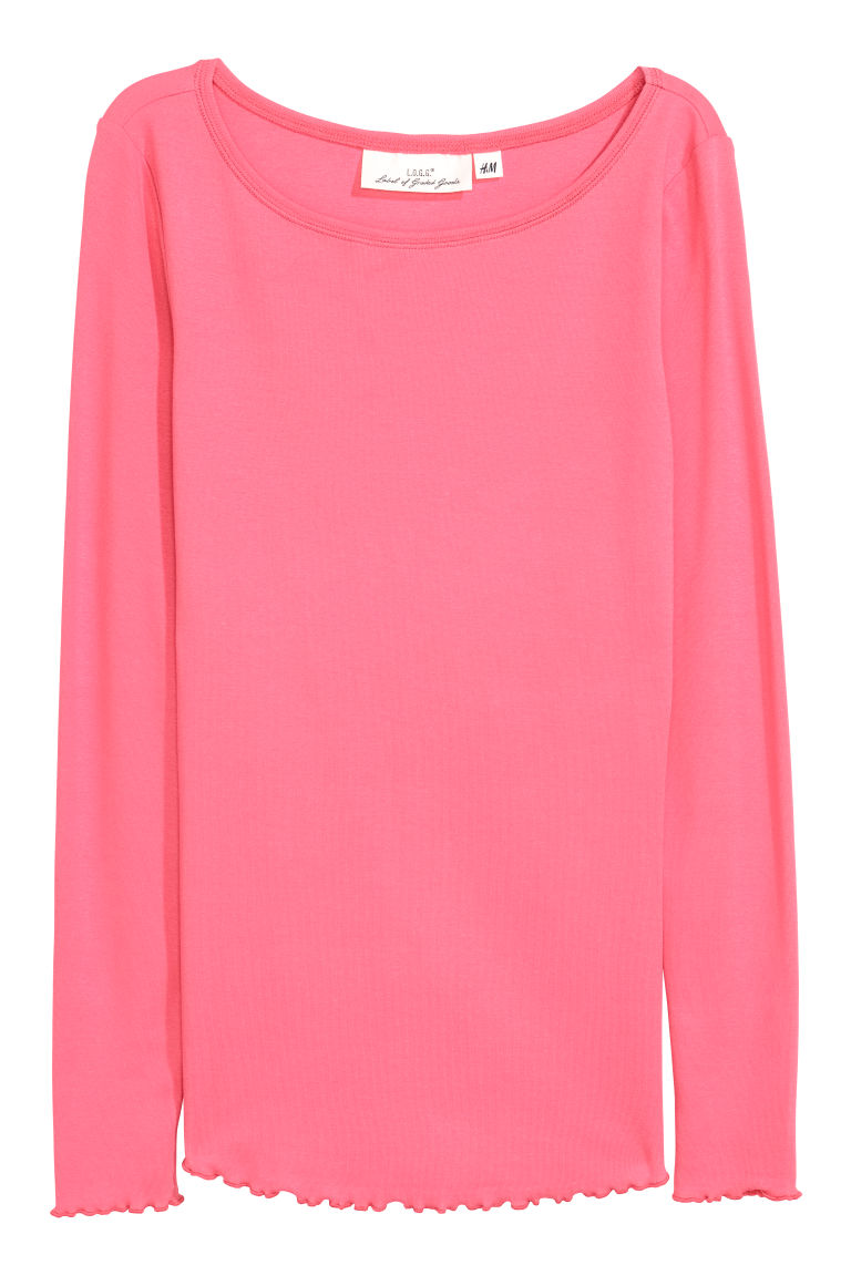 Jersey top - Pink - Ladies | H&M CN