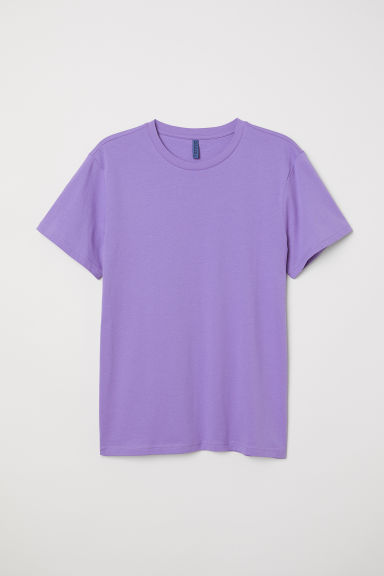 Round-necked T-shirt - Light purple - Men | H&M