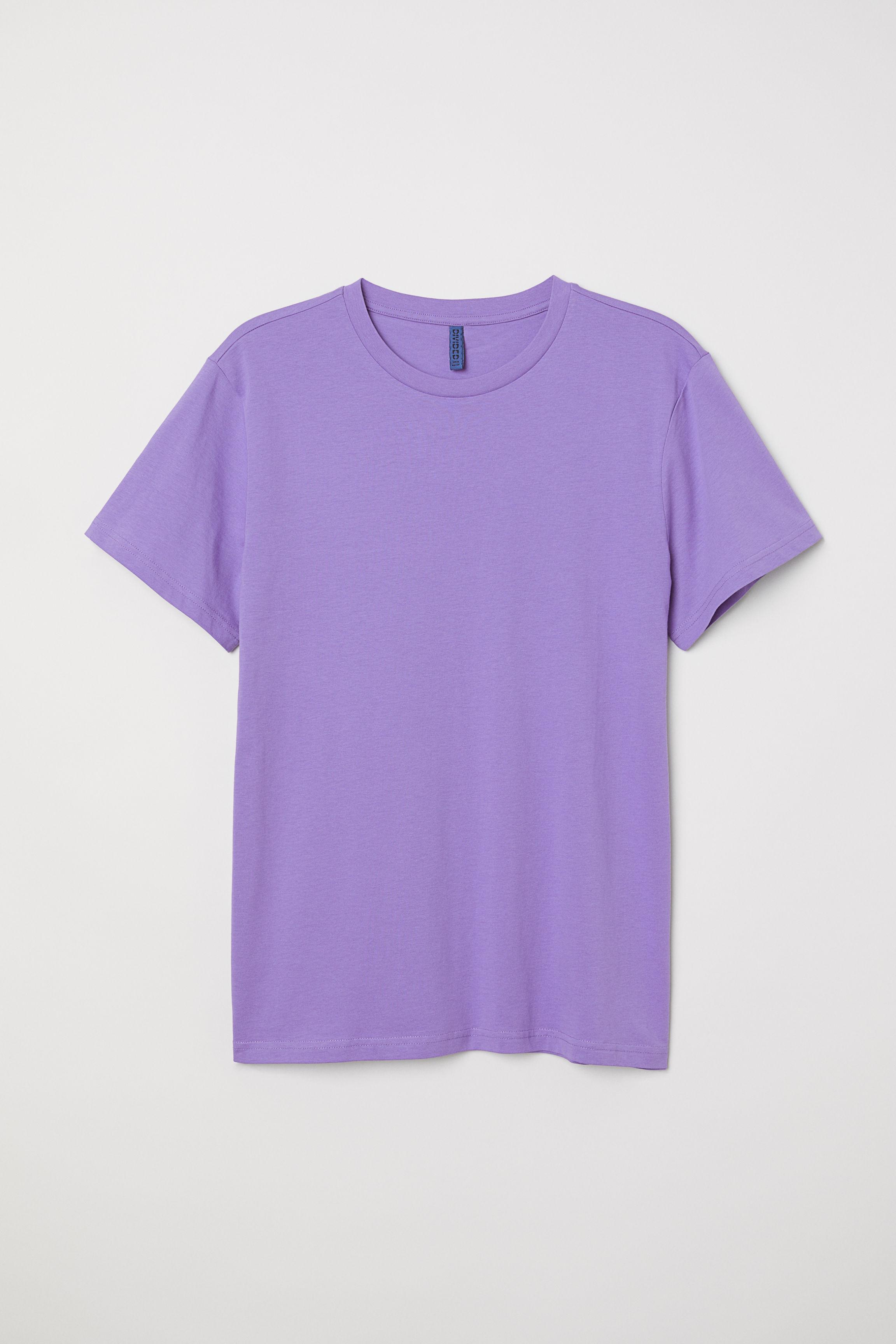 f0d4abed Round-necked T-shirt - Light pink - Men | H&M US