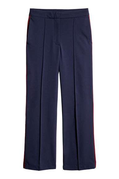 Trousers - Dark blue - Ladies | H&M CN