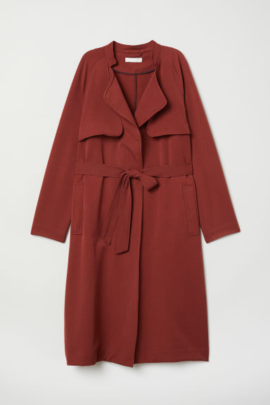Soft trenchcoat - Rust red - Ladies | H&M