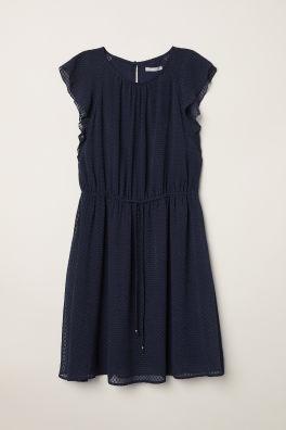 5eb3d5d46d89 Kleid mit Volantärmeln