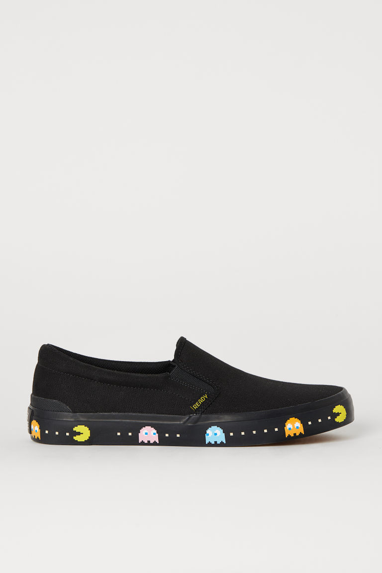 Slip-on trainers - Black/PAC-MAN - Men | H&M GB