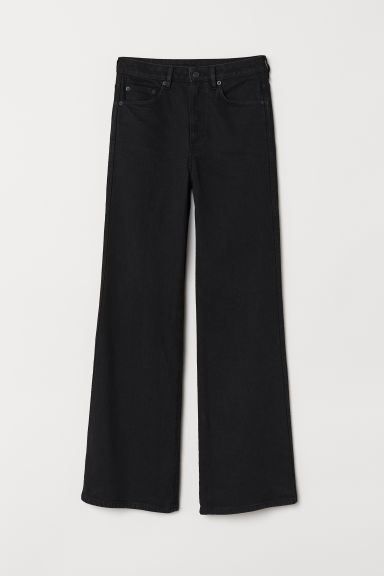 Wide Regular Jeans - Black - Ladies | H&M