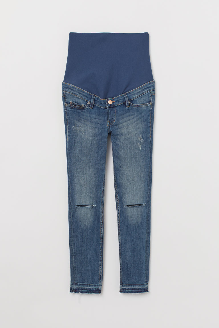 MAMA Skinny Ankle Jeans - Denim blue/Trashed - Ladies | H&M